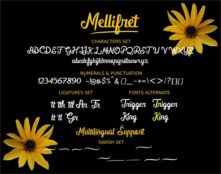 Mellifret_Demo Font plant flower