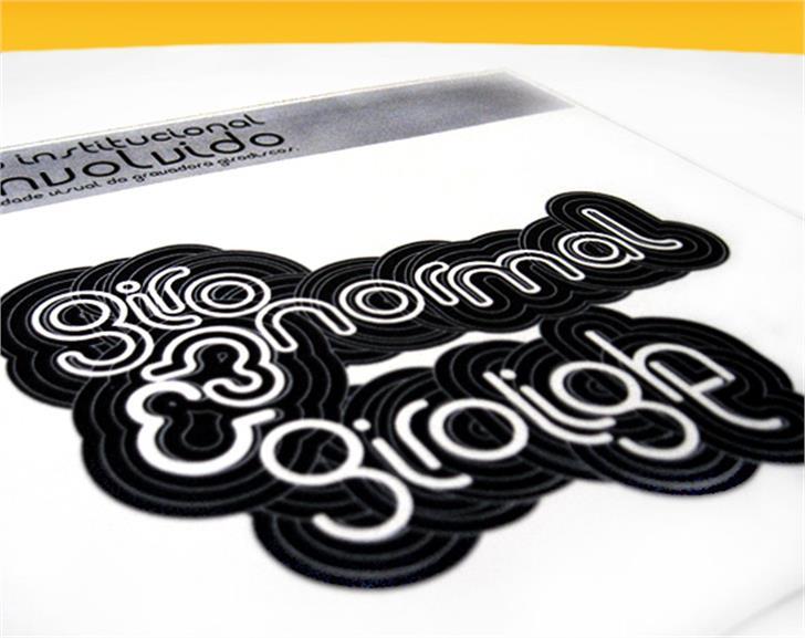 Giro Font drawing design