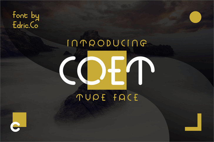 coet bold Font screenshot design