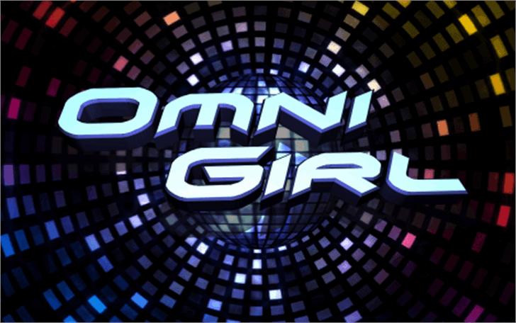 Omni Girl Font poster