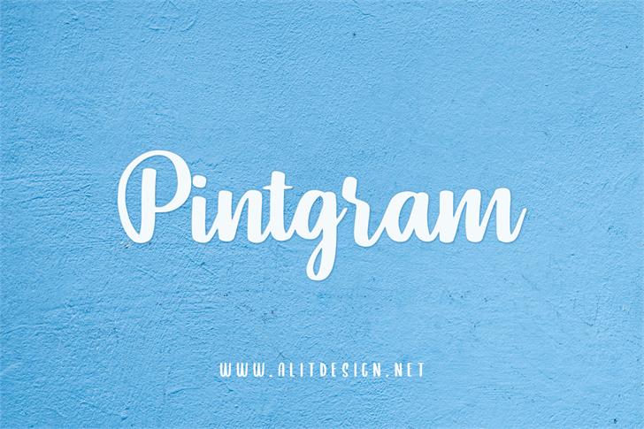 Pintgram Font design typography