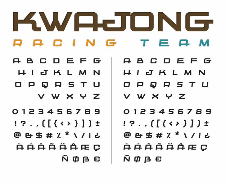 Kwajong font by Tup Wanders