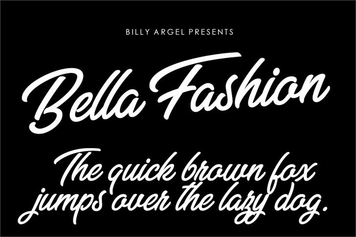 Bella Fashion Personal Use Font design text
