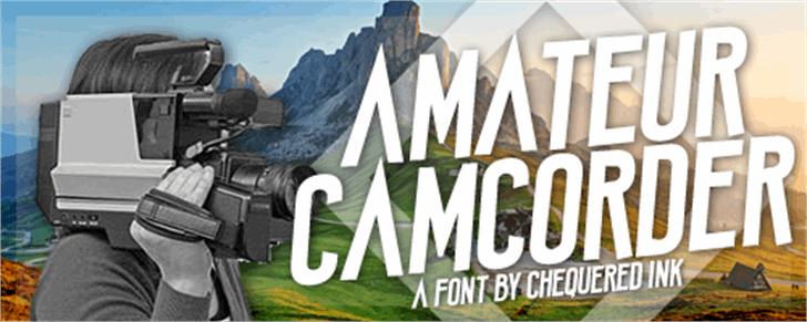 Amateur Camcorder Font screenshot mountain