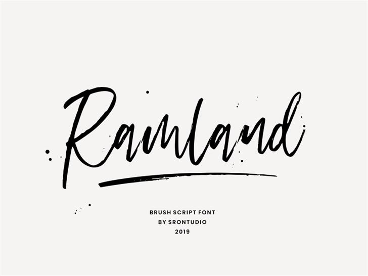 Ramland Font handwriting design