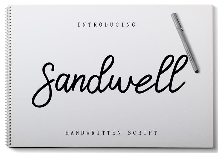 Sandwell Font poster
