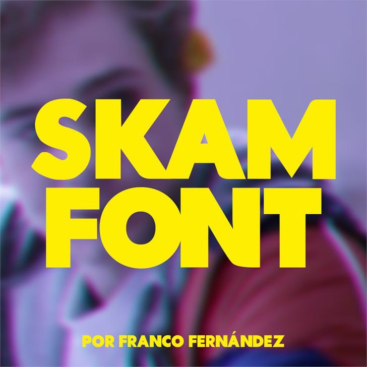 Skam Font screenshot