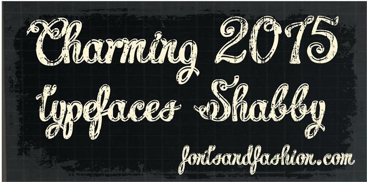 Charming shabby demo font by Fontsandfashion
