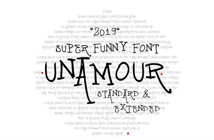 vtks unamour Font text handwriting