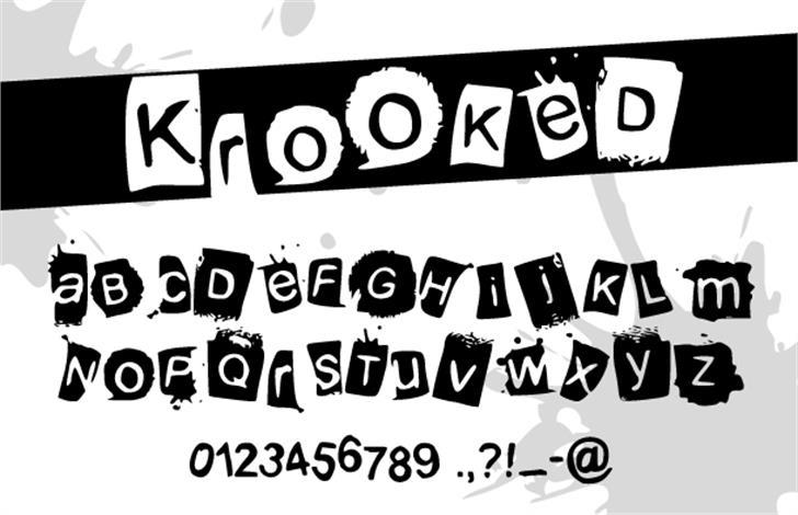 KrooKed Font text design