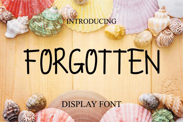 FORGOTTEN Font fashion accessory food