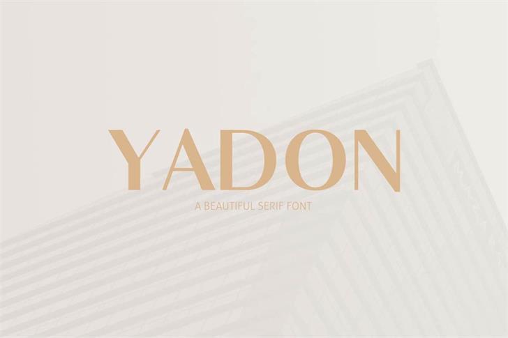 Yadon Font design screenshot