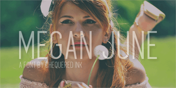 Megan June font by Chequered Ink