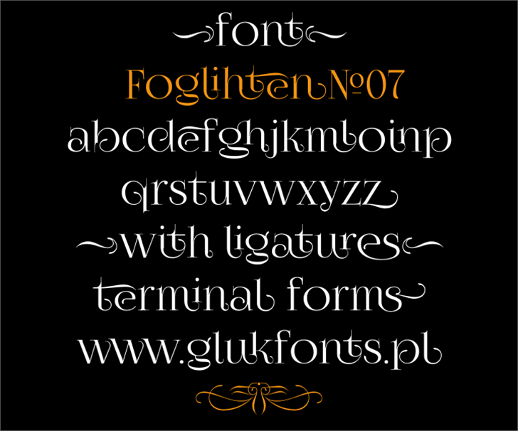 FoglihtenNo07 Font text screenshot