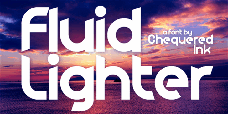Fluid Lighter Font screenshot poster