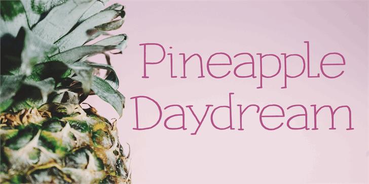 Pineapple Daydream DEMO Font design cartoon