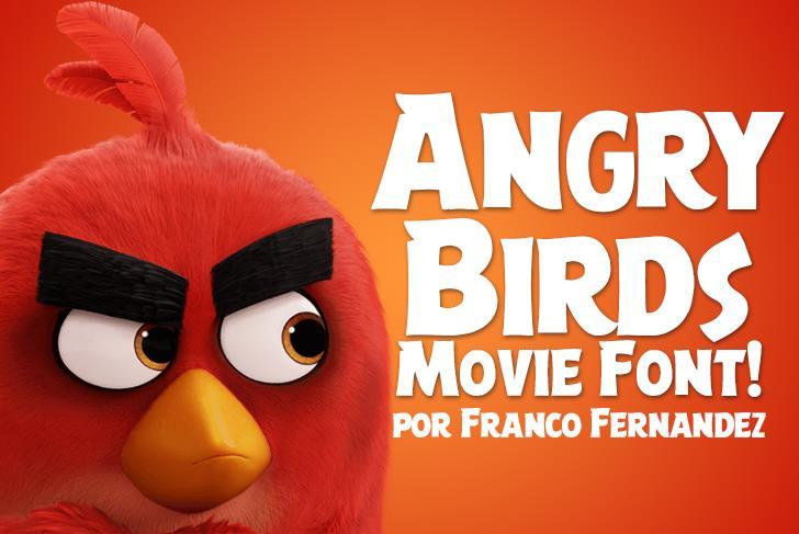 Angry Birds Movie Font cartoon toy