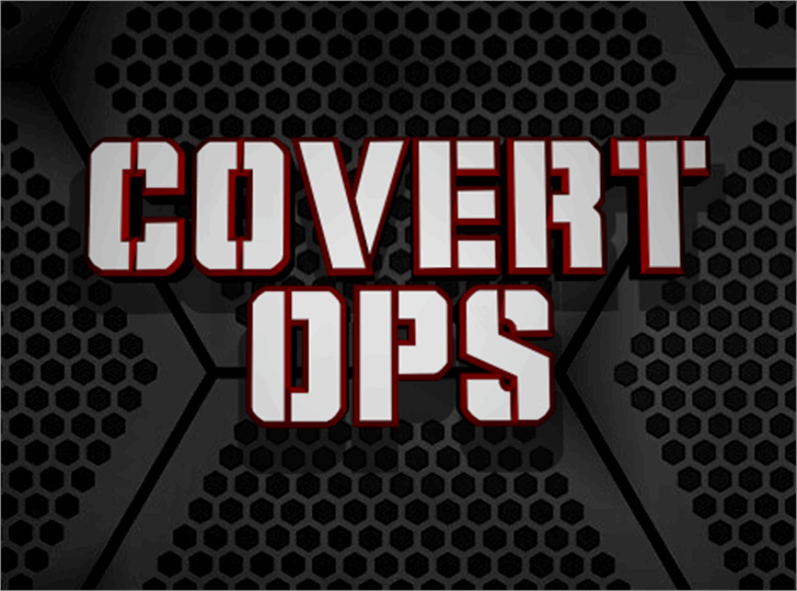 Covert Ops font by Iconian Fonts