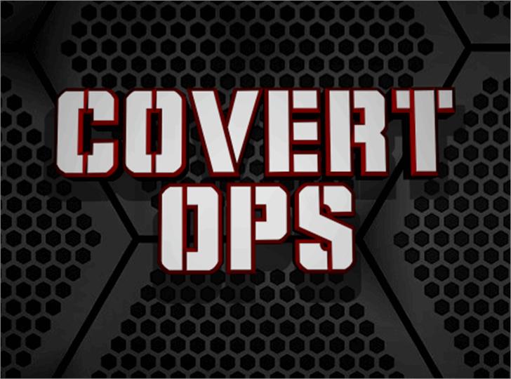 Covert Ops Font poster screenshot