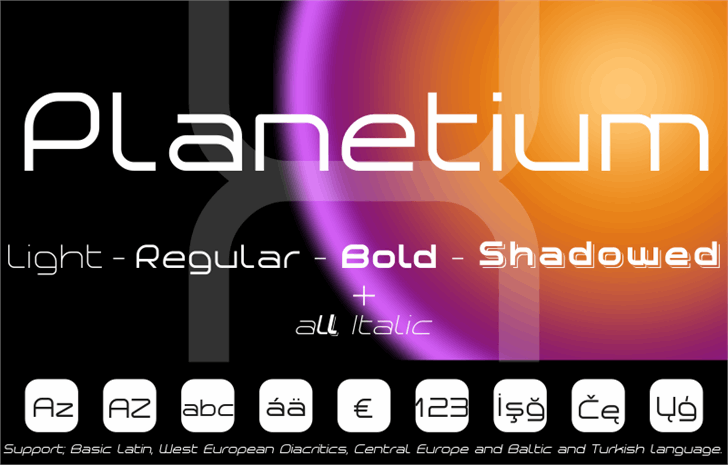 Planetium-X Bold Demo Font screenshot design