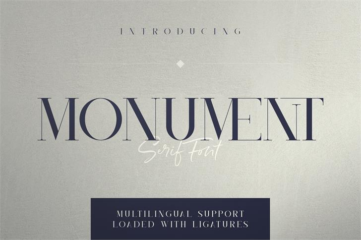 Monument Font poster