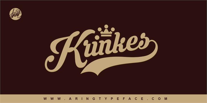 Krinkes PERSONAL USE font by Måns Grebäck