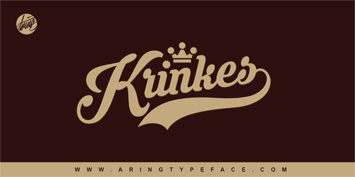 Krinkes PERSONAL USE Font design typography