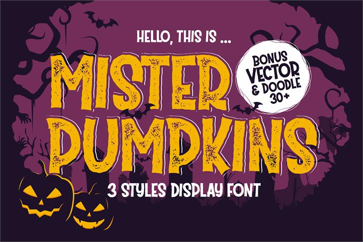 Mister Pumpkins Aged Font poster
