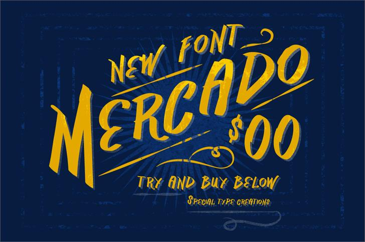 Vtks Mercado Font design typography