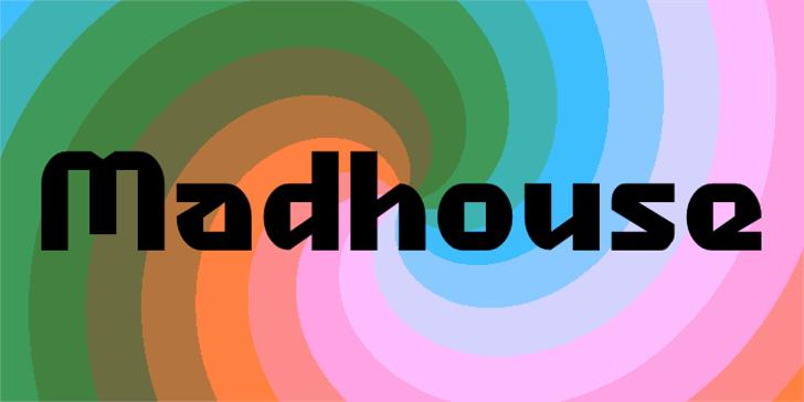 Madhouse Font design screenshot