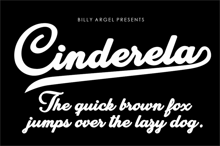 Cinderela Personal Use Font design text