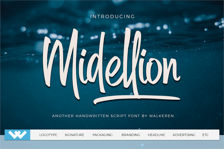 Midellion Demo font by Walkeren