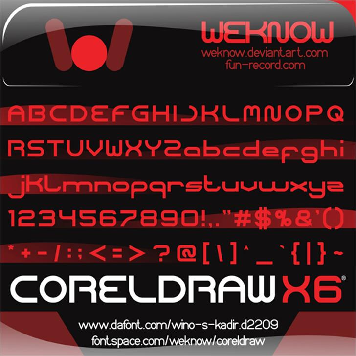 coreldraw Font screenshot poster