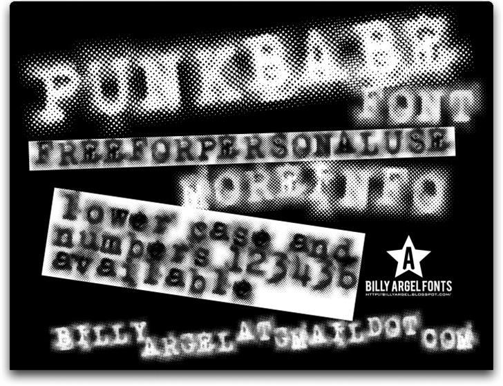 PUNKBABE font by Billy Argel