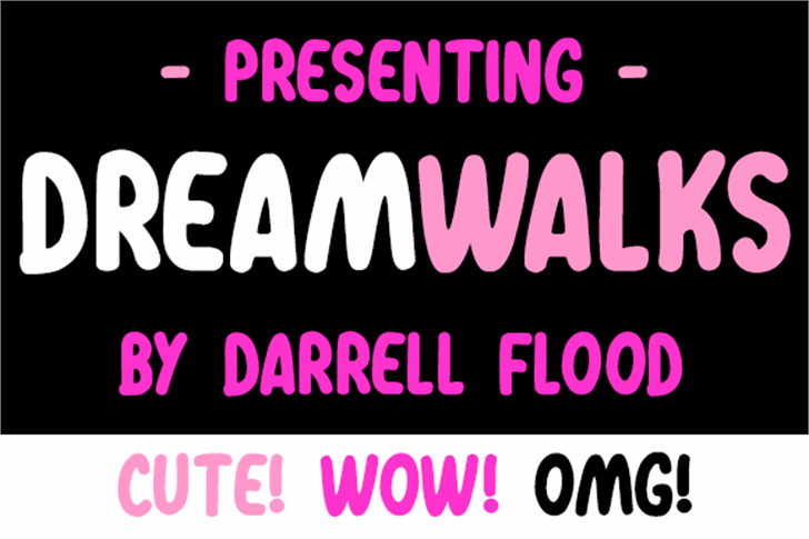 Dreamwalks Font screenshot poster