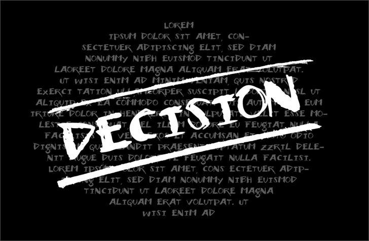 Vtks Decision Font text screenshot