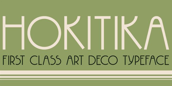DK Hokitika Font screenshot design
