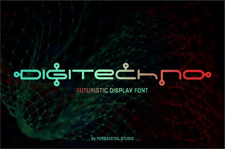 Digitechno FreeVersion font by PutraCetol Studio
