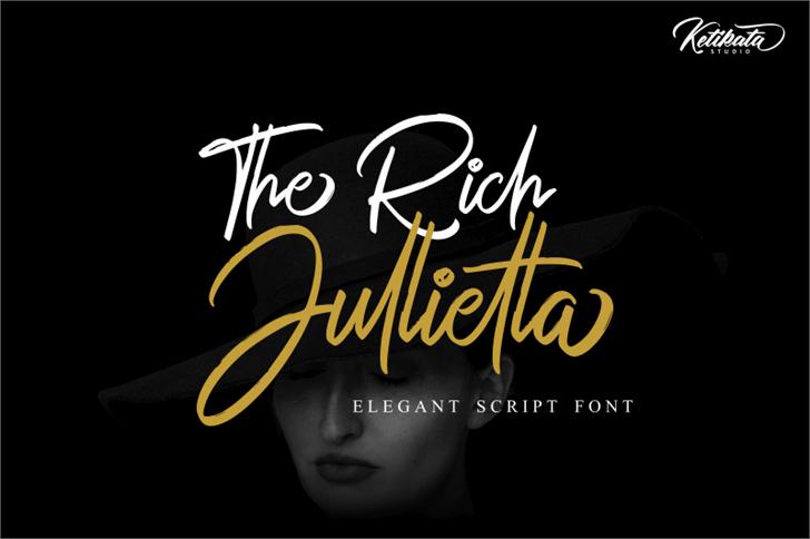 The Rich Jullietta DEMO Font poster