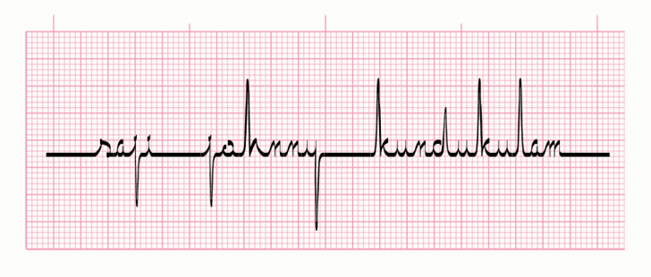 ECG saji font by SAJI JOHNNY KUNDUKULAM