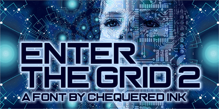 Enter the Grid 2 font by Chequered Ink