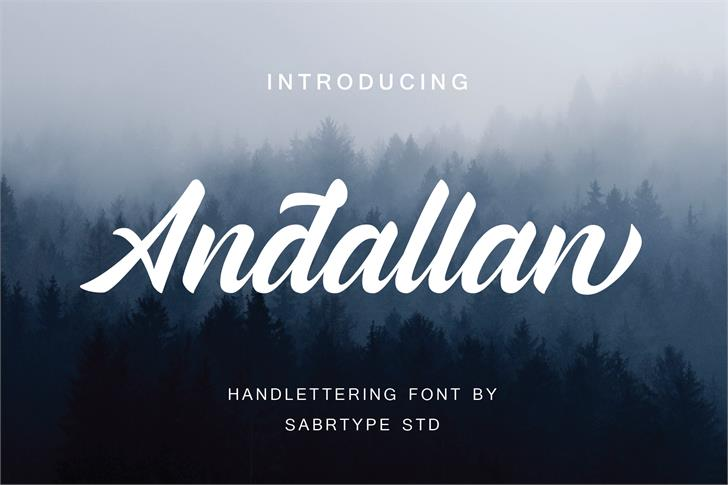 Andallan Demo Font fog text