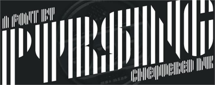 Pyrsing Font design graphic