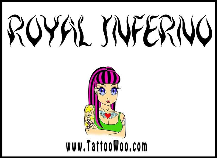 Royal Inferno font by Jonathan S. Harris
