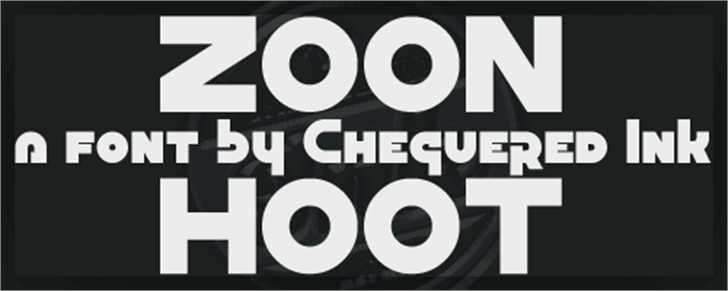 Zoon Hoot font by Chequered Ink