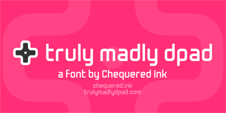 Truly Madly Dpad Font screenshot poster