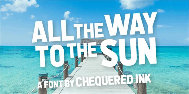 All the Way to the Sun Font sky screenshot
