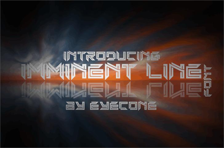 Imminent Line Font screenshot design