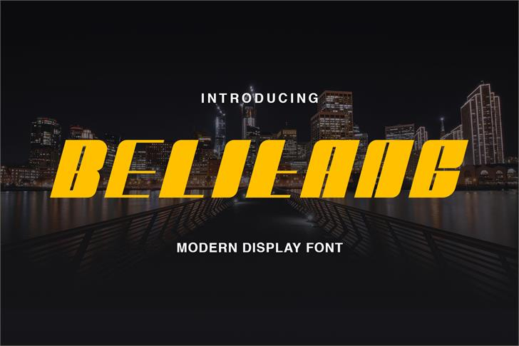 Belitang Font screenshot design