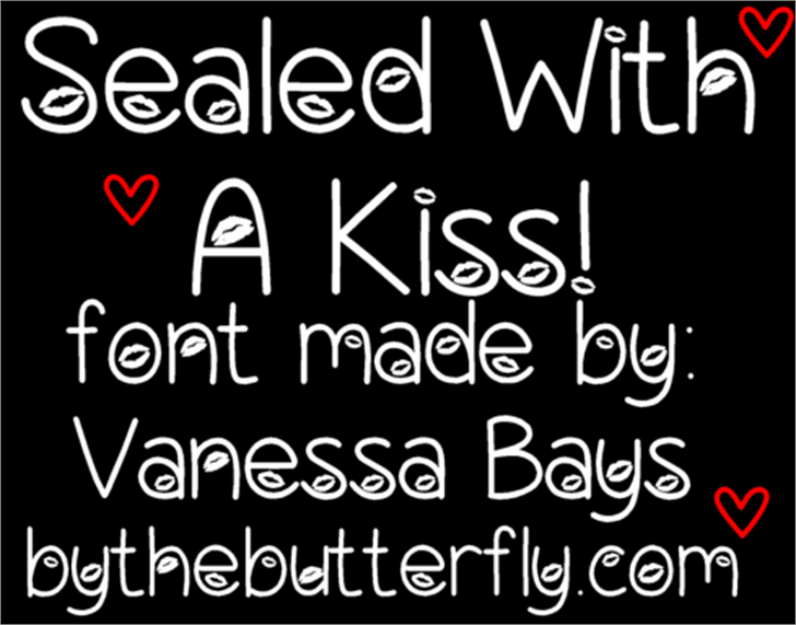 Sealed With A Kiss Font typography design